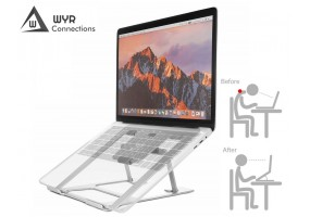 Portable Foldable Aluminium Laptop Stand Support Suitable For 15'6 Below