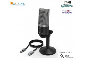 FIFINE USB Microphone PC Microphone for Mac and Windows Computers,Optimized for Recording,Streaming (K670)