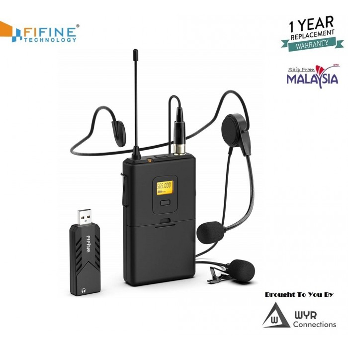 fifine wireless microphones for computer usb wireless microphone system for pc mac headset uhf. Black Bedroom Furniture Sets. Home Design Ideas