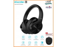 MIXCDER E9 Active Noise Cancelling Lightweight Headset Stereo Wired Wireless Bluetooth Over Ear Headphones with microphone