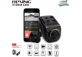 Rexing V1P 3rd Generation Dual 1080p Full HD Front and Rear 170 Degree Wide Angle Wi-Fi Car Dash Cam Without GPS Logger