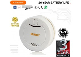 HEIMAN Smoke Detector 10 Years Battery Smoke Alarm With 5 Year Replacement Warranty