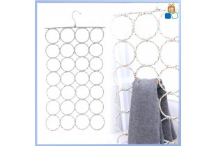 28 holes Scarf Hanger Holder 28 Lubang Hanger Tudung Organizer Closet Space Saver (Random Color)