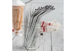 12 In 1 304 Stainless Steel Straw Set Metal drinking Reusable Straw (Free Carry Pouch)