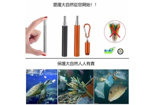 Collapsible Metal Straws Reusable Telescopic Portable Stainless Steel Straw Drinking Foldable with C