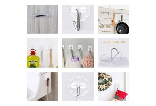 25 Pcs Magic Wall Hook Without Nails Transparent Strong Sticky Heavy Duty Magic Adhesive Wall Hook