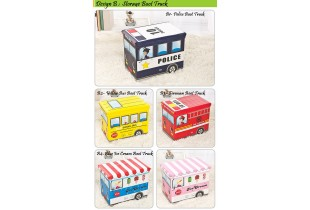 Vehicle Toy Storage Box Foldable Toy Storage Car Organizer Box multipurpose Vehicle Stool