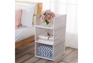 Multi-layer Home Wardrobe Clothes Stackable Storage Basket Storage Cabinet Tray