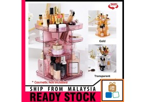 Multi functional  360 Rotate Cosmetic Makeup Lipstick Storage Rack
