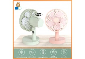 360° 3 Level Mini Fan USB Automatic Swing Office Table Fan