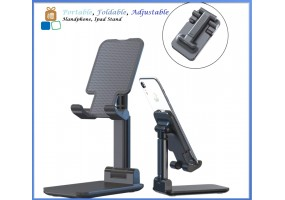 Fold-able, Adjustable, Portable Multi-Angle Adjustable Sturdy Metal Handphone Ipad Tablet Stand