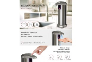 Newest Infrared Automatic Soap Dispenser, Stainless Steel Touchless Auto Hand Soap Dispenser with Waterproof Base