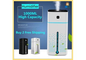 1000ml USB Air Aroma Humidifier Ultrasonic Diffuser Purifier Atomizer Home Mist Maker