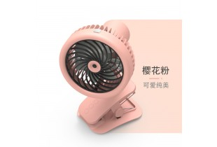 360° 3 Level Mini Fan USB Automatic Swing Office Humidifier 1200mah Rechargable Table Fan Standable Clippable