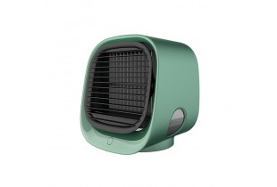 New Personal Air Conditioner, Portable Mini Evaporative Air Cooler Air Humidifier, USB Desk Quiet Fan with Light Lamp