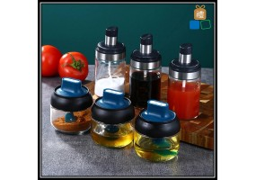 Kitchen Glass Spice Jar Set Seasoning Bottle Dispensers Condiment Airtight Jar Spice Container