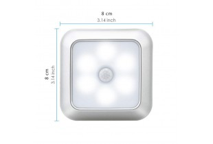 6 LED Motion Sensor Night Lights PIR Cabinet Light Closet Lamp Battery Powered for stairs kitchen bedroom