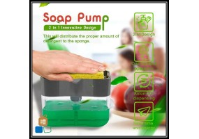 Soap Dispenser Soap Pump Sponge Holder New Creative Kitchen 2-in-1 Manual Press Liquid Soap Dispenser Kitchen Tools