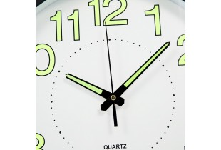 "12"" / 30cm LUMINIOUS Wall Clock Silent Non-Ticking Wall Clock with Night Light Glow In The Dark"