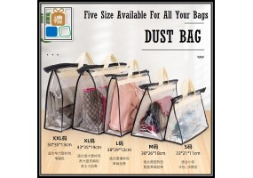Breathable Handbag Dust Cover Storage Bag Dustproof Moisture Proof  Handbag Organizer Available 5 Different Sizes