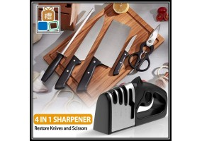 Upgrade - Four Stage Stage Pro Stainless Steel Knife Sharpener Alat Pengasah Pisau