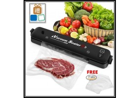 Household Vacuum Sealer Machine For Multiple Type Fresh Food Storage with Free 15pcs Vacuum Sealer bags (Malaysia Plug)