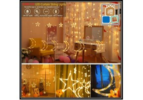 3.9m LED Decoration Lights Colorful Crystal Fairy Star Light Lampu Hiasan USB Battery Powered