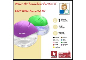 Watering Revitalisor Air Purifier Large Capacity , Aroma Diffuser Fresh with LED Light (1 LITER)