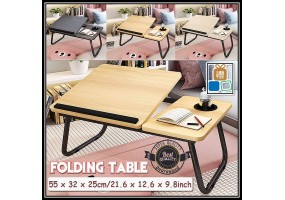 Folding Laptop Desk for Bed Portable Computer Notebook Sofa Table for Writing 4 Angles Adjustable Laptop Table