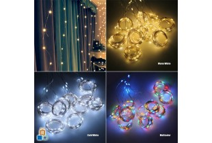 100/200/300 LED Lighting Curtain Lamp String with USB and remote controller on Curtain string light