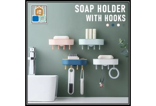 Modern Nordic Style Seamless Punch-Free Hanging Soap Box Storage Soap Holder With Hook Toilet Accessories