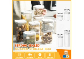 New Stock Airtight Food Container Sealed Storage Container Plastic Transparent 厨房收纳盒