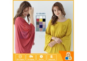 Oversized Women's Summer Tunic Loose Blouses Shirts Bat Sleeve Fashion Plus Size Tops Tee Modal Thin Cool Clothes