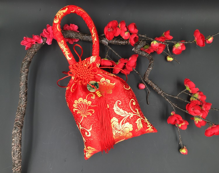 Chinese New Year Mandrin Orange Carrier Gift Bags (A027)