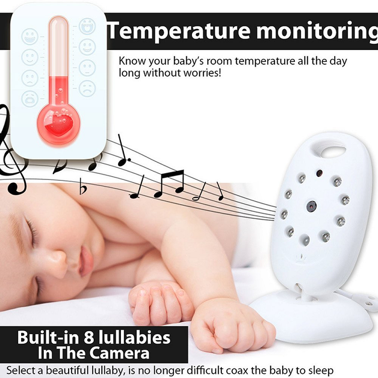 Wireless Video/Audio Baby Monitor 2.4GHz With Night Vision - Rechargeable (E003)