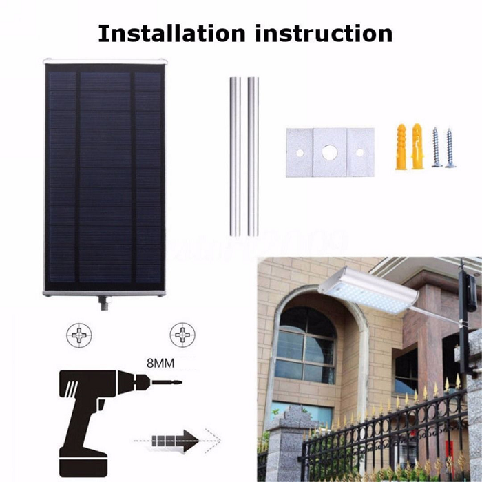 Solar 70 LED Motion Sensor Light Outdoor Garden Path Street Wall Lamp Waterproof