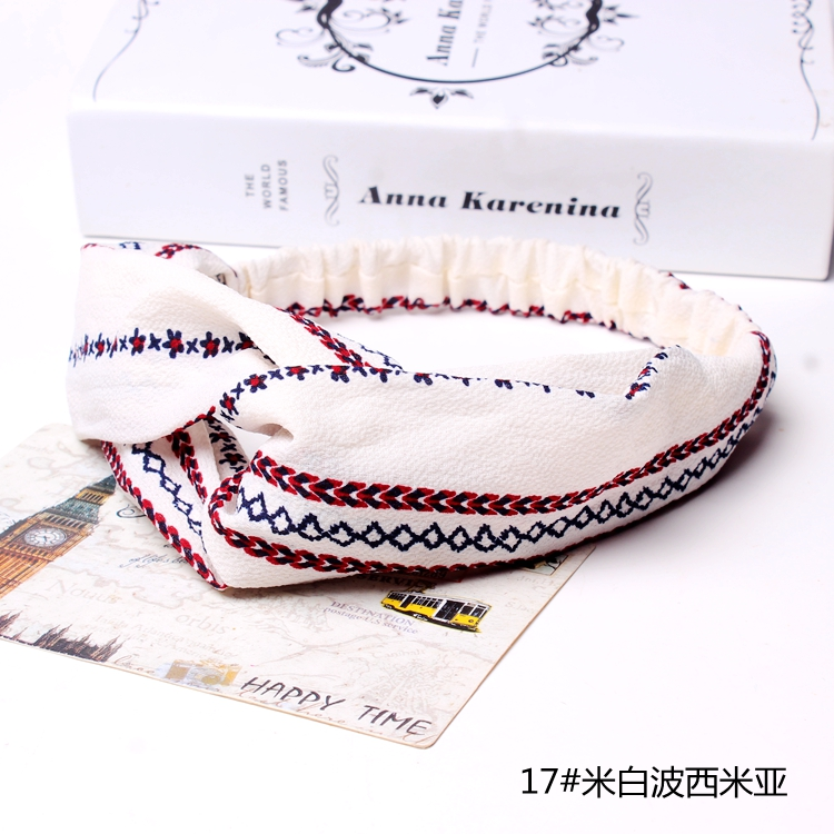 5 Pcs Set Elastic Headband Woman Girls Accessories Head Band Hairband (F022A)