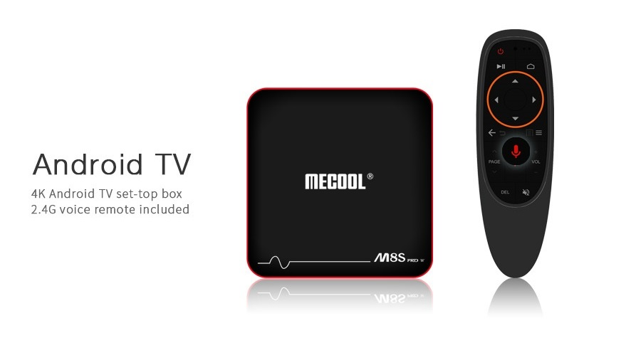 Mecool M8S PRO W DDR3 Quad Core Android 2+16GB 4K WIFI Voice Control TV Box