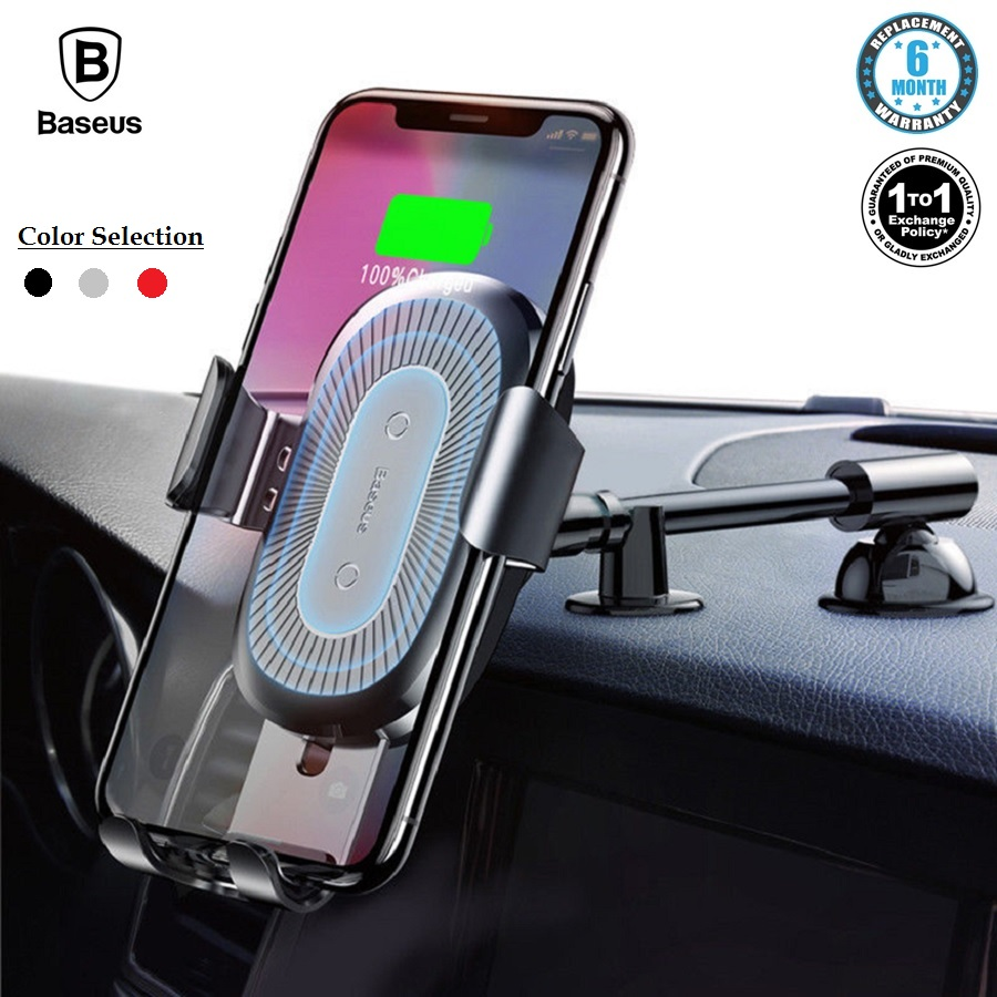 baseus 10w wireless charger car holder qi wireless. Black Bedroom Furniture Sets. Home Design Ideas