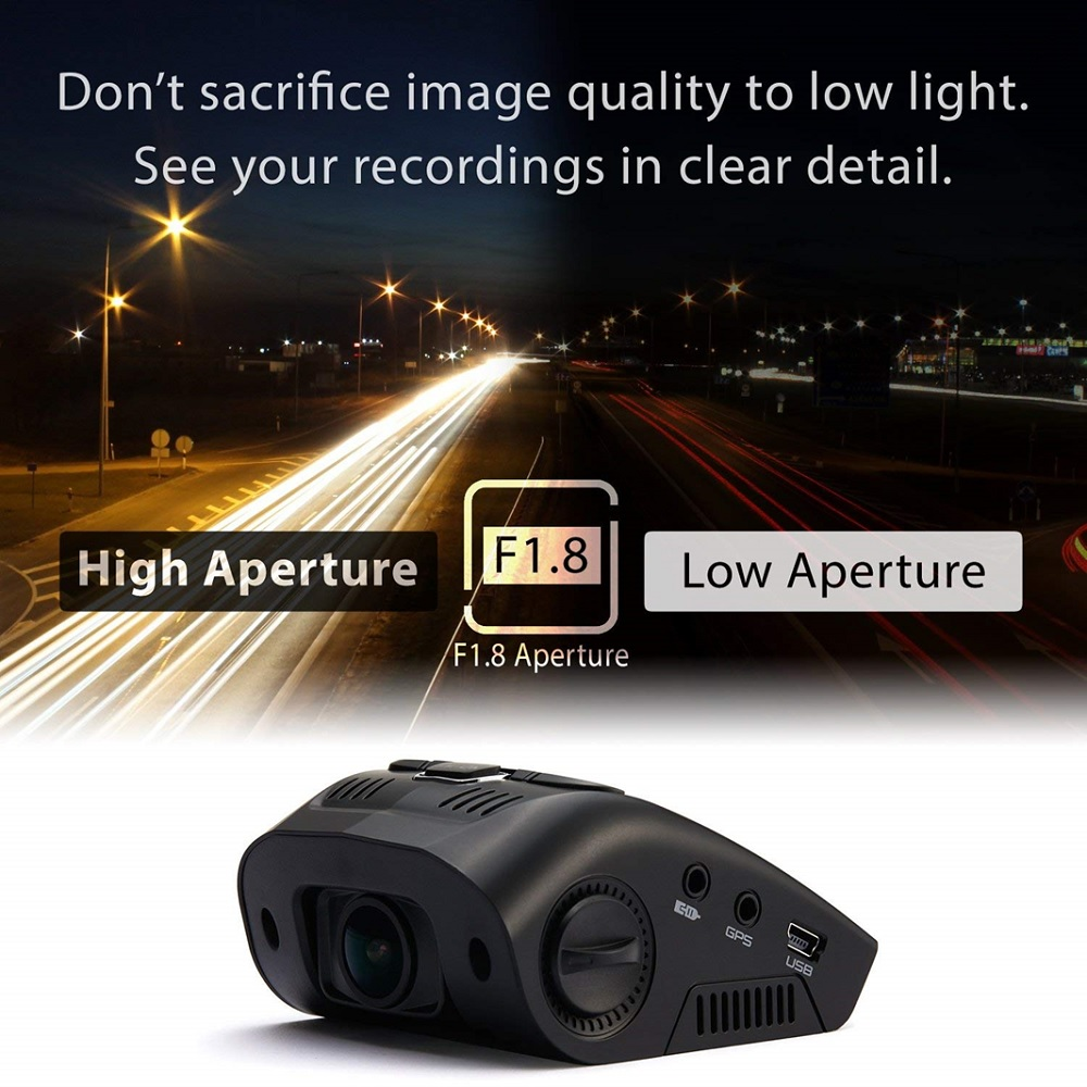 """Rexing V1 3rd Generation 4K UHD WiFi Car Dash Cam 2.4"""" LCD 170° Wide Angle Dashboard Camera Recorder with WiFi, G-Sensor, WDR, Loop Recording"""