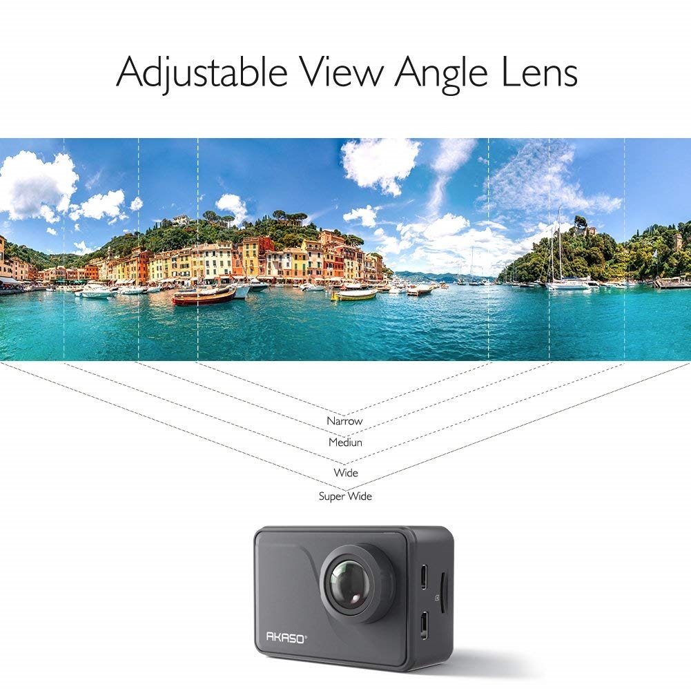 AKASO V50 Pro Native 4K/30fps 20MP WiFi Action Camera with EIS Touch Screen Adjustable View Angle 30