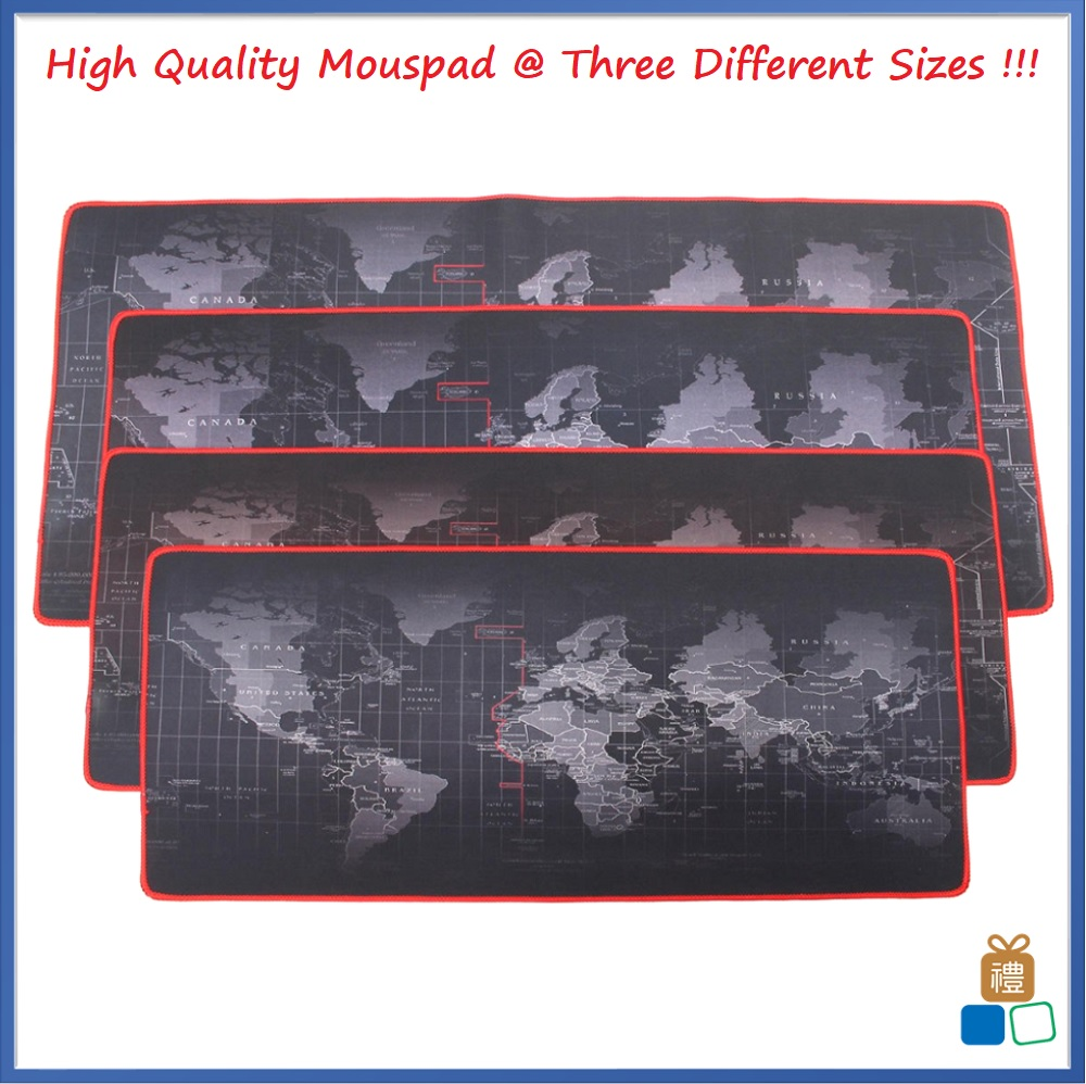 Pro Gaming World Map Mouse Pad Mousepad (3 Sizes Available)