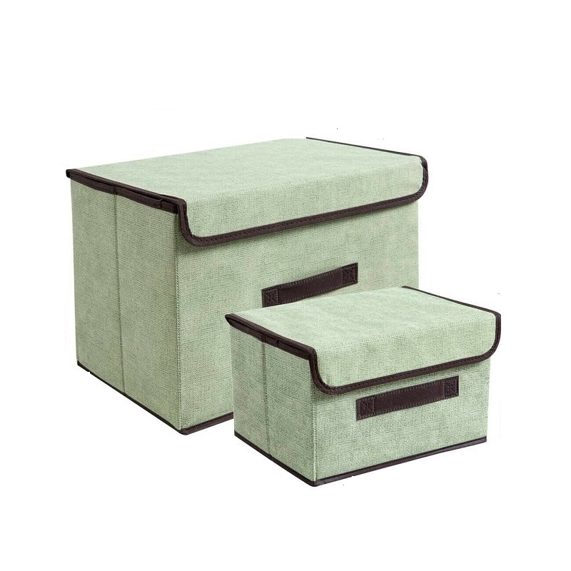 Foldable Wardrobe Storage Box For Clothes Blankets (Set Of 2)